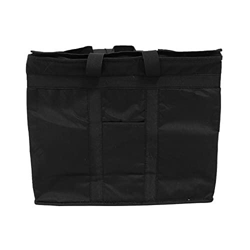 Lurrose Isolé Refroidisseur Pique- Nique Fourre- Tout Thermique Isolation Refroidisseurs D' épicerie Shopping pour D' épicerie Camping De Voiture Noir 40X33x31cm