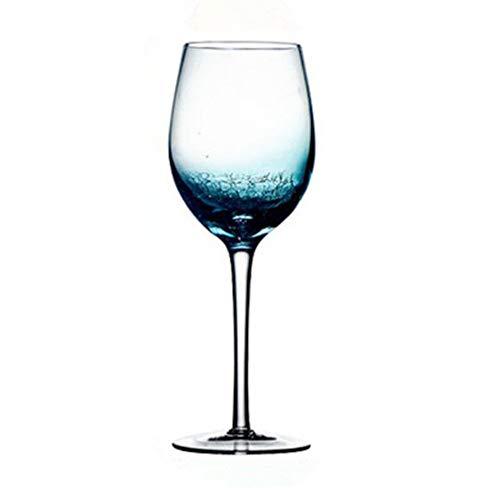 Copas de vino de cristal azul degradado, 100% sin plomo, copas de vino tinto, copas...