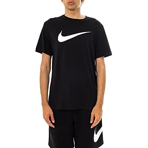 Nike DC5094-010 M NSW Tee Icon Swoosh T-Shirt Uomo Black/(White) S