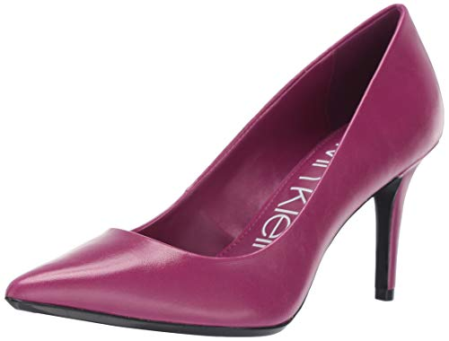 Calvin Klein Women's Gayle Pump magenta varnished crackle leather 5 M US