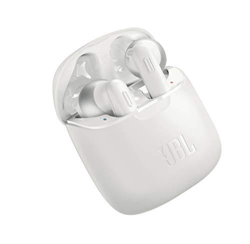 JBL Tune 220 TWS Lifestyle Bluetooth Kopfhörer - Kabellose Sport Ohrhörer für bis zu 3 Stunden Musikgenuss mit nur eine Akku-Ladung - Inkl. Ladecase Weiß