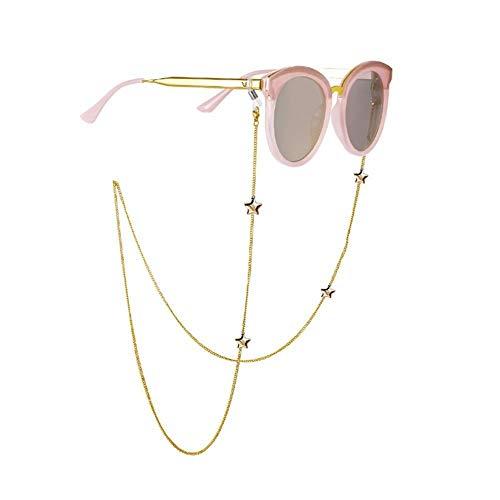 Arte Callejero Mujer niña Hombre niño Cadenas De Moda For Mujer Gafas De Sol Gafas De Lectura con Cuentas Lentes Titular Eyewears Cadena Cable Cuerda Correa For El Cuello