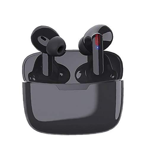 IUwnHceE Bluetooth Earbud drahtloser Kopfhörer-Kopfhörer Touch Control Stereo Noise Cancelling Ladetasche Y113 TWS Schwarz Praktisches Werkzeuge