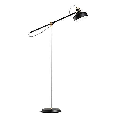 T-T-DENG Industriële retro mode creatieve vloer lamp leeslamp slaapkamer nachtlampje vissen licht metaal verticale lange arm A++