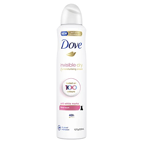 Dove Antiperspirant Aerosol Invisible Dry Floral Touch Deodorant 220 ml (Pack of 1)