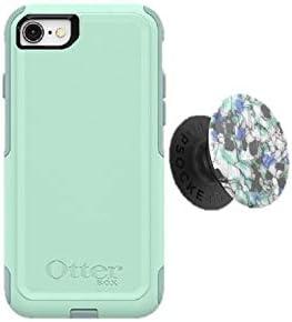 Bundle: OtterBox COMMUTER SERIES Case for iPhone SE (2nd Gen - 2020) & iPhone 8/7 (NOT PLUS) - (OCEAN WAY) + PopSocke...