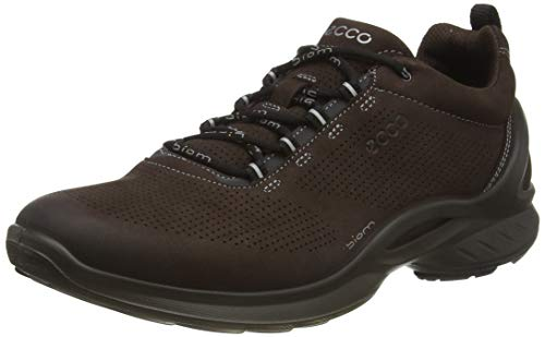 ECCO Men's Biom Fjuel Walking Shoe, Mocha Nubuck Perforated, 10-10.5