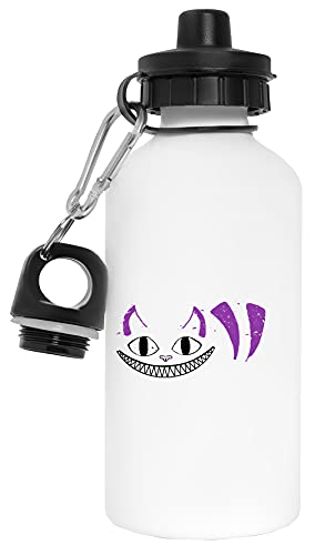 Sonriente Gato Botella de Agua Blanco Aluminio Reutilizable Water Bottle White Aluminium Reusable