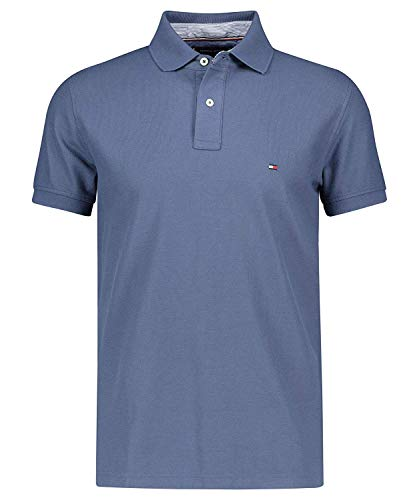 Tommy Hilfiger Herren Poloshirt Regular Fit Indigo (59) M