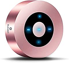 XLeader SoundAngel A8 (3rd Gen) 5W Touch Bluetooth Speaker with Waterproof Case, 15h Music, Louder Crystal HD Sound, Premium Mini Portable Bluetooth Speaker for iPhone iPad Tablet Shower, Rose Gold