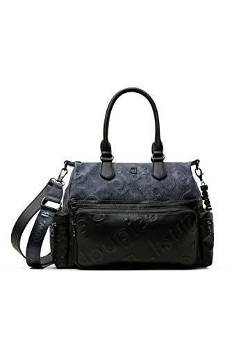 Desigual PU Shoulder Bag, Bolso bandolera. para Mujer, azul, Medium