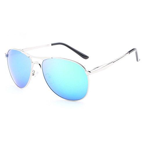 Gli uomini, gli occhiali da sole, moda, tempo libero, luce esterna, polarizzata blu, E00112