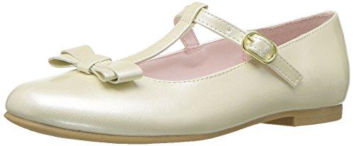 NINA Girls' merrilyn Ballet Flat, Ivory, 1 M US Little Kid