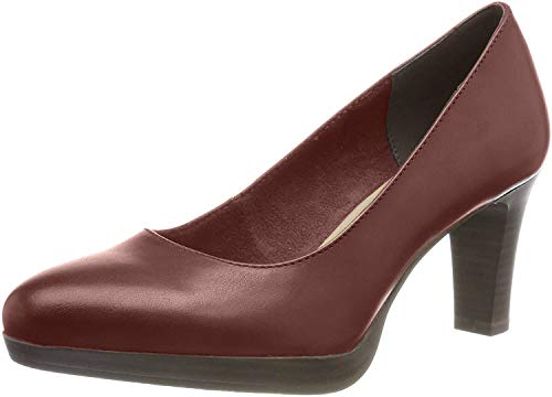 Tamaris Damen 1-1-22410-23 549 Plateaupumps,Rot (Bordeaux 549), 39 EU