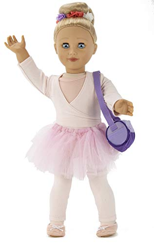 Playtime By Eimmie 18 Inch Doll for Girls - 18 Inch Doll Capezio Ballerina Doll, with Ballet Doll Clothing and Dance Bag Doll Accessory for 18 Doll Ballerina