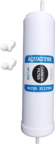 AQUADYNE Carbon Filter for Kent/Aquaguard/Livpure/Whirlpool RO Water Purifier Models alongwith Handy Installation Manual and Video Fitment Support