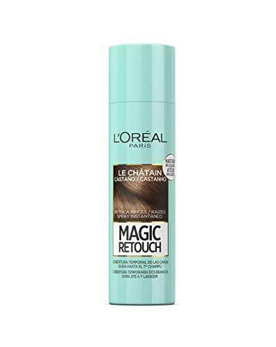 LOréal Paris Magic Retouch Spray Retoca Raíces y Canas, Castaño, 150 ml