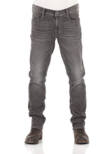 MUSTANG Herren Jeans Oregon Tapered Fit Stretch Denim Hose 99% Baumwolle Blau Grau Schwarz W30 - W40, Größe:W 32 L 32, Farbauswahl:Used Black Denim (1009376-783)