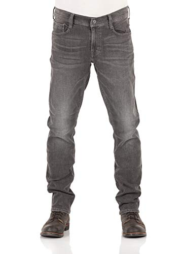 MUSTANG Herren Jeans Oregon Tapered Fit Stretch Denim Hose 99% Baumwolle Blau Grau Schwarz W30 - W40, Größe:W 38 L 36, Farbauswahl:Used Black Denim (1009376-783)