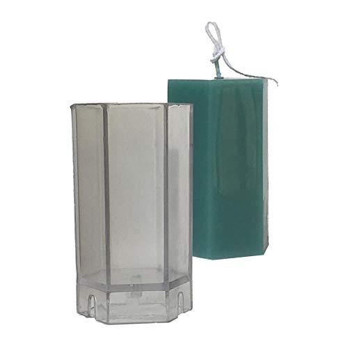 biteatey Molde para Hacer Velas, Moldes de fabricación de Velas hexagonales Transparentes para Velas perfumadas de Bricolaje