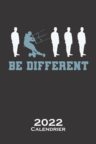 Soyez différent Kitelandboarding avec le vent Calendrier 2022: Calendrier annuel pour Les amateurs de sports extrêmes sur roues