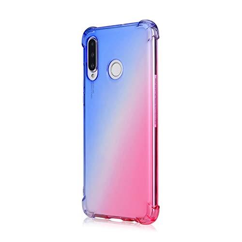 Suhctup Coque Compatible pour Huawei Honor 9 Lite,Ultra-Mince Souple Fin TPU Gel Silicone Crystal Dégradé de Couleur Anti Choc [Coin de logement avec airbag] Protection intégrale Étui Housse