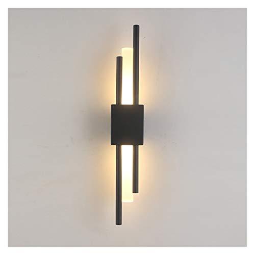 yywl Lámpara de Pared Moderno Elegante Negro y Bronce latón Oro 50 cm de Metal lámpara de Pared lámpara de Pared LED para Sala de Estar Dormitorio Dormitorio Wall Sconence
