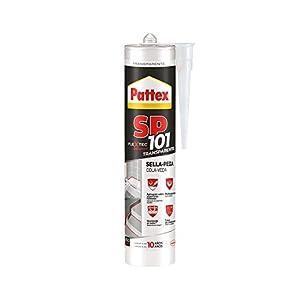 31U ko347SL. SS300  - Pattex SP101 Original, adhesivo sellador para interiores y exteriores, polímero sellador transparente multimaterial, sellador de juntas en cartucho, 1 x 280 ml