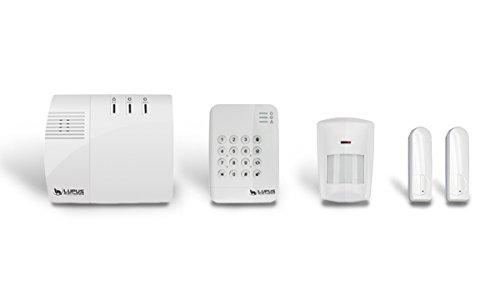 Lupusec XT1 Smarthome Funk-Alarmanlage Starter Pack (mit Funk Bewegungsmelder, 2 Türkontakten und Keypad, Einbruchmeldeanlage, fernsteuerbar OP-Kameras integrierbar, Wachschutz aufschaltbar)