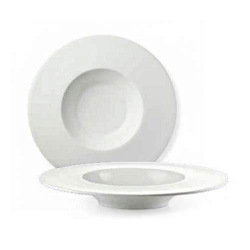 Fade 52160 Maison Anja - Cuenco (28,5 cm, porcelana), color blanco