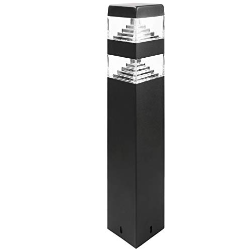 Bolardo piramidal 32 Led negro 60cm 230V