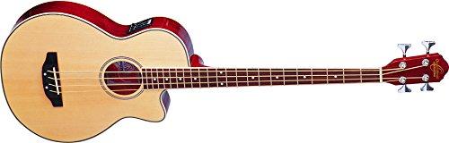 Oscar Schmidt OB100N-A-U 4-String Acoustic-Electric Bass with Gig Bag - Natural