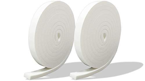 プランプ オリジナル 隙間テープ スキマッチ 白 ホワイト 厚 7 mm × 幅 15 mm × 長 2 m 2本入(合計4m) 日本製 ゴムスポンジ 防水 防音 すきま 窓 玄関 引き戸 隙間