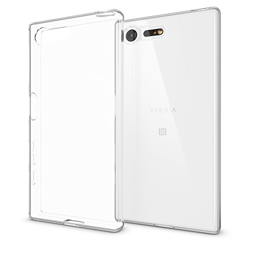 NALIA Handyhülle kompatibel mit Sony Xperia X Compact, Slim Silikon Motiv Case Phone Cover Crystal Schutzhülle Dünn Durchsichtig, Etui Handy-Tasche Backcover Transparent Bumper - Transparent