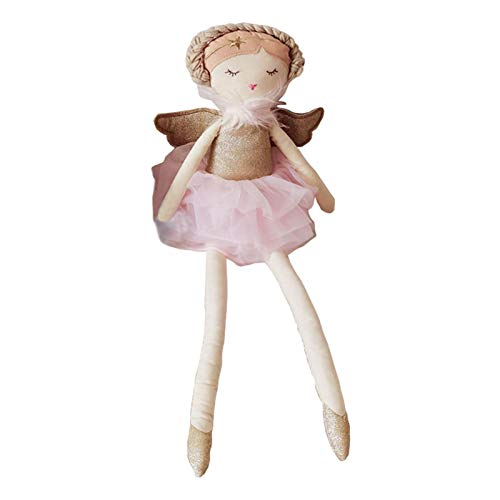 flouris Nordic Baby Doll Girl Peluche Toys Muñecas Soft Gifts Cherry Girl Babydoll Niños Muñecas Relajantes - 50cm Dibujos Animados Dibujos Animados Decoración De La Sala, Rosa Azul