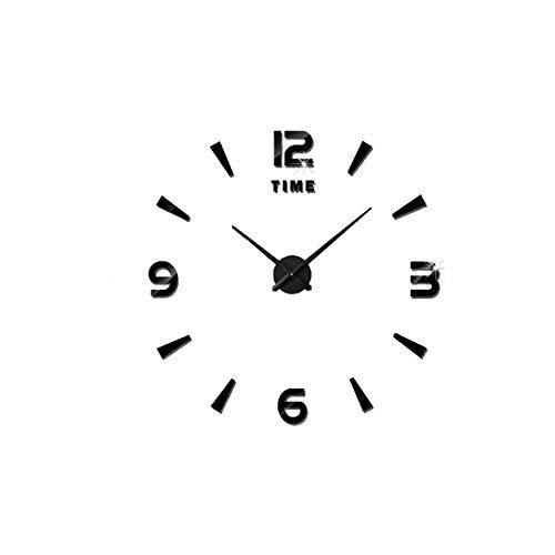 HKOEBST Orologio da Parete A Specchio da Te Orologio da Parete A Specchio Eva Oversize, Moderno Orologio Minimalista, Muro di Salotto, Adatto per La Sala Studio/Ufficio/Soggiorno, 120X120cm,C1
