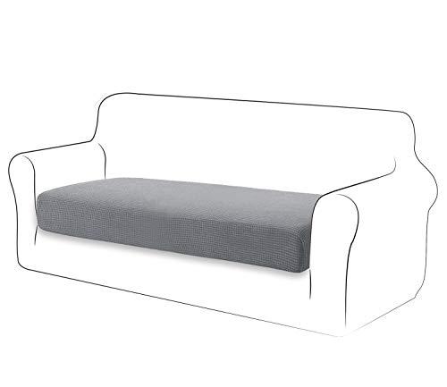 TIANSHU High Stretch Kissenbezug Sofakissen Schonbezug Möbelschutz Sofasitzbezug für Couch 1-teilige Kissenbezüge für 2 Sitzer (2 Sitzer, Hellgrau)