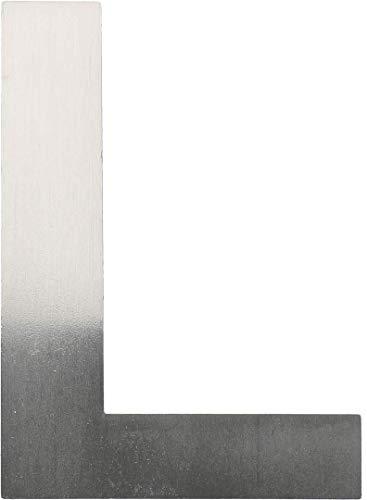 """Metall-Buchstabe """"L"""" aus gebürstetem Edelstahl – Höhe 8cm – Hausnummer, Zimmerbeschriftung, Bürobeschriftung, Türsymbol, Wandbeschilderung – rostfrei und selbstklebend ohne bohren"""
