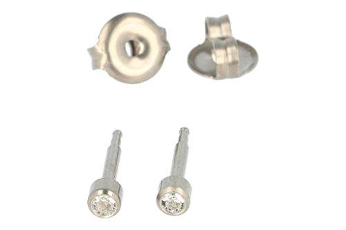 PUREgrey 421304 - Pendientes de titanio con circonitas, colo