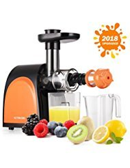 Slow Masticating Juicer,Cold Press Juicer Machine[2018 Upgraded] with Juice Jug and Brush to Clean Conveniently,More and Quiet Motor Juicer Machine for all Fruits and Vegetables.