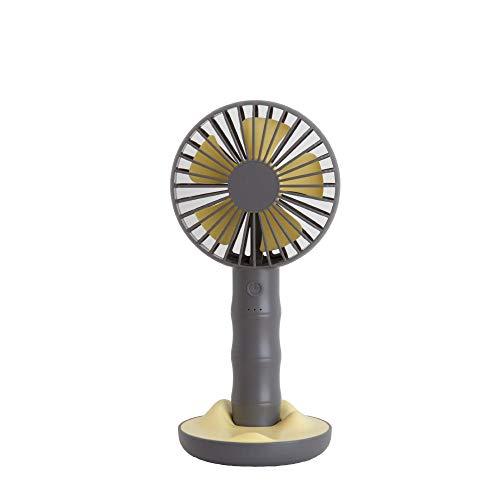 Roshow Fan Summer Mini Ufficio USB Palmare Palmare Ventilatore Mini Porta Portatile Portable Mano Supporto Ventilatore Jihu Desktop Fan-Grigio