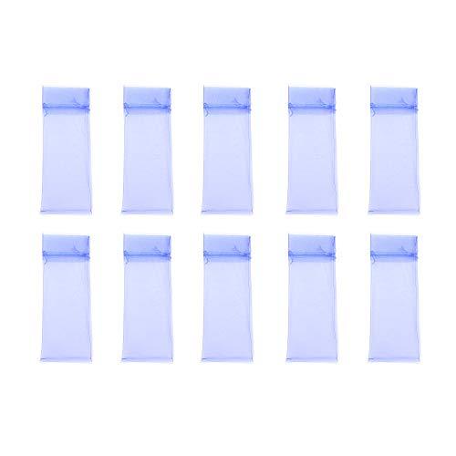 Ogquaton - Bolsa para botella de vino con cordón de organza, 20 unidades, color azul cielo
