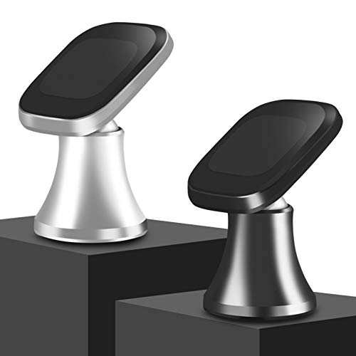 Viedouce 2 Pack Soporte Móvil Coche Magnético Universal,Soporte para Teléfono,Iman Móvil Coche 360° Rotación Apoyo Pegar a Cualquier Superficie Limpiado para iPhone Samsung Xiaomi,Huawei (Stlye-01)