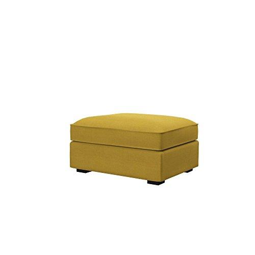 Soferia Bezug fur IKEA KIVIK Hocker, Stoff Elegance Dark Yellow