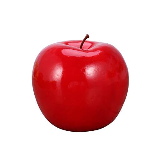 LIOOBO Mela Rossa Artificiale - Mela della vigilia di Natale - Frutta di plastica per Puntelli da Frutta Finti per Piatti da Frutta di Nozze