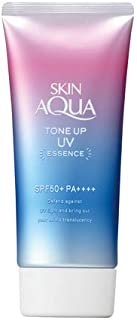 [Japan Limited Item] SKIN AQUA Sunscreen Tone Up UV Essence Lavender color 50ml [SPF50+, PA++++] with Original Black Dental Floss Set