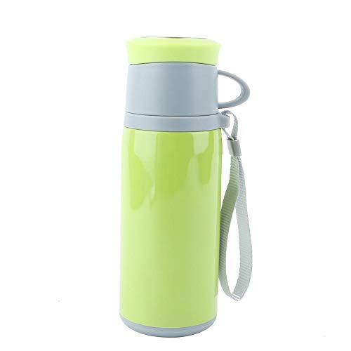 Oumefar - Borraccia termica in acciaio inox, per bevande calde e fredde, colore: verde