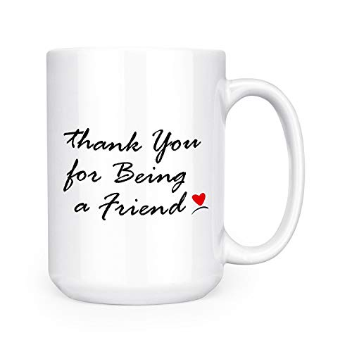 Thank You For Being A Friend - Large 15 oz Double-Sided Coffee Tea Mug