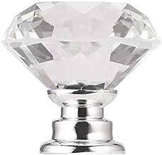 Lichtgewicht 30mm Diamond Crystal Glas Legering Deur Lade Handgreep Bar Kast Garderobe Pull Handvat Knoppen