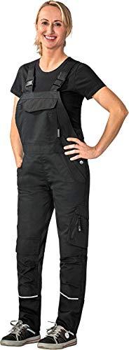 Planam Damen Arbeitslatzhose Norit in vielen Farben (50, schwarz-schwarz)